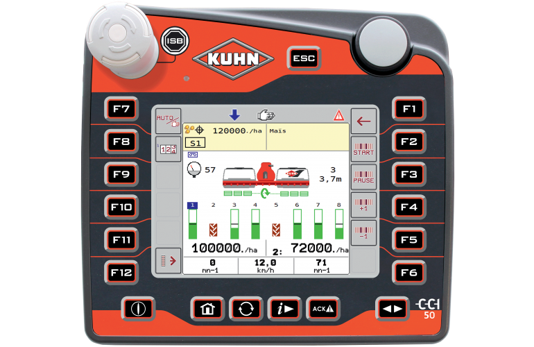 ISOBUS CCI 50 terminal with PLANTER