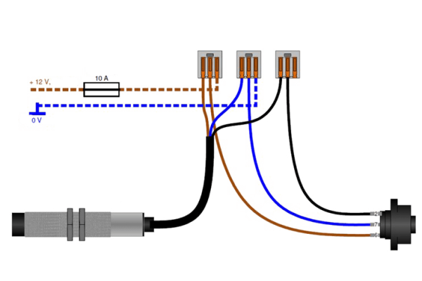 Diagram of the electronic speed matching feature on Axis 30.2 Q fertilizer spreaders.