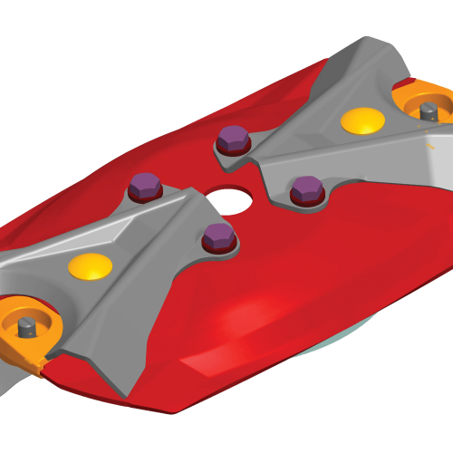 a rendered version of a lifter disc for a KUHN FC mower conditioner