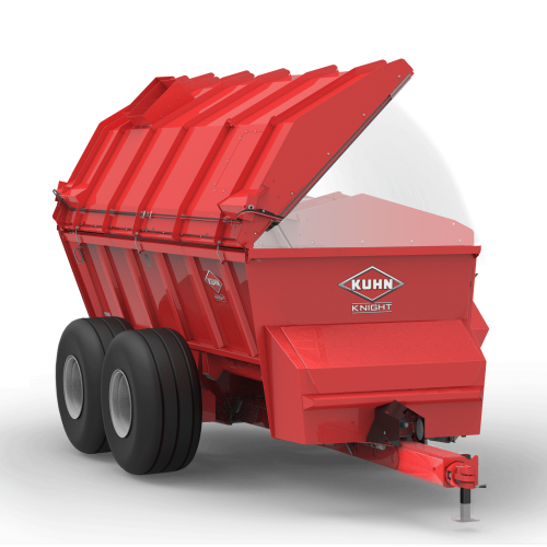 A SL 124 with a lid on the manure spreader.