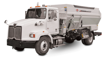 BTC 155 truck-mounted delivery box on white background